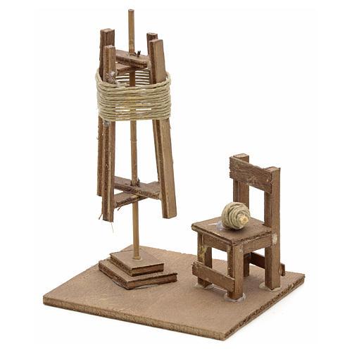 Spinnerei mit Stuhl neapolitanische Krippe 1