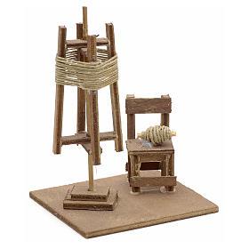 Tourniquet en miniature avec chaise crèche Napolitaine s2