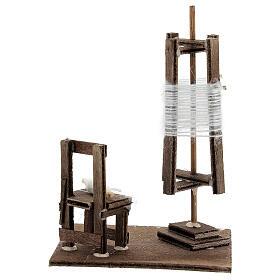 Tourniquet en miniature avec chaise crèche Napolitaine s4