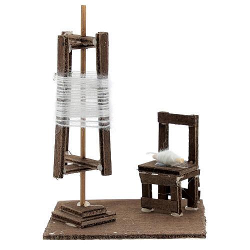 Tourniquet en miniature avec chaise crèche Napolitaine 1