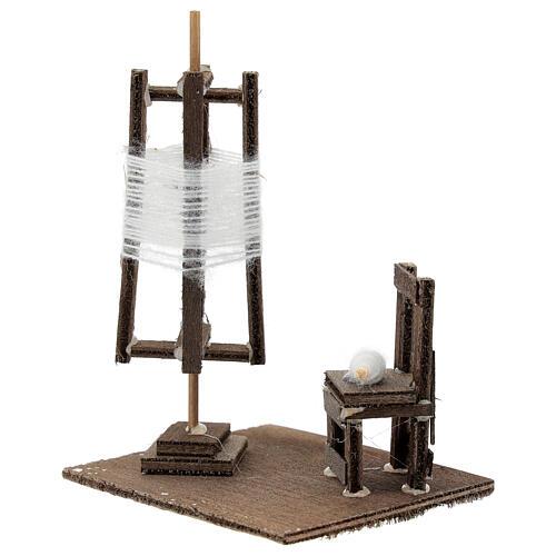 Tourniquet en miniature avec chaise crèche Napolitaine 2