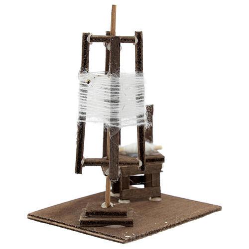 Tourniquet en miniature avec chaise crèche Napolitaine 3
