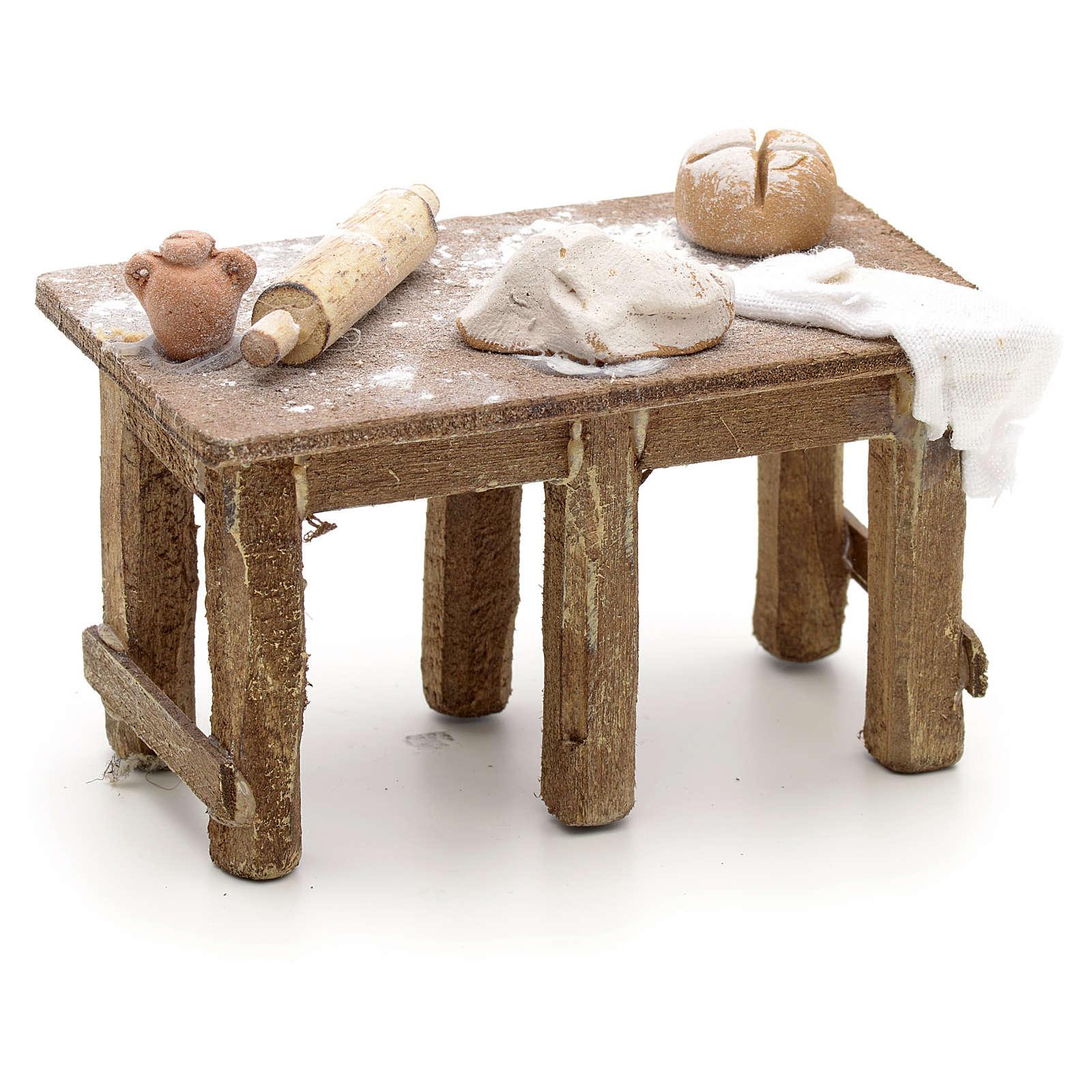 Mesa del panadero pesebre Nápoles 4