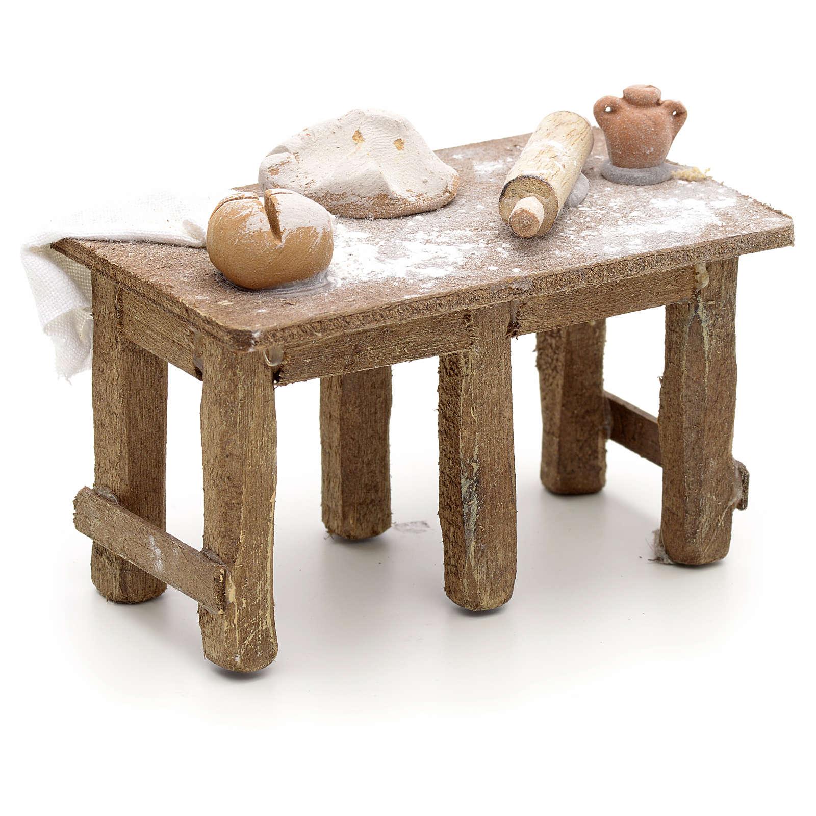 Tavolo del panettiere presepe Napoli 4