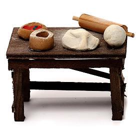 Neapolitan Nativity scene accessory, pizza table s4