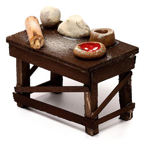 Neapolitan Nativity scene accessory, pizza table 2