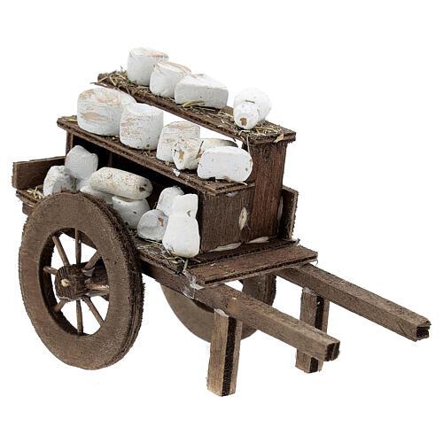 Carreta de quesos pesebre artesal Nápoles 2