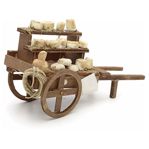 Charrette fromages en miniature crèche Napolitaine 2