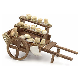 Neapolitan Nativity scene accessory, cheese cart s1
