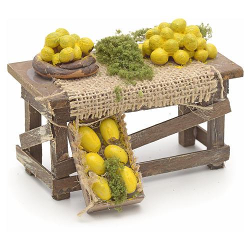 Tisch mit Zitronen neapolitanische Krippe 2