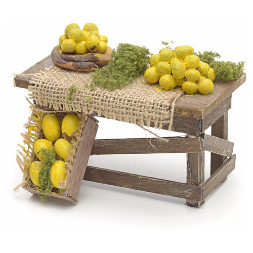 Neapolitan Nativity scene accessory, lemon table 1