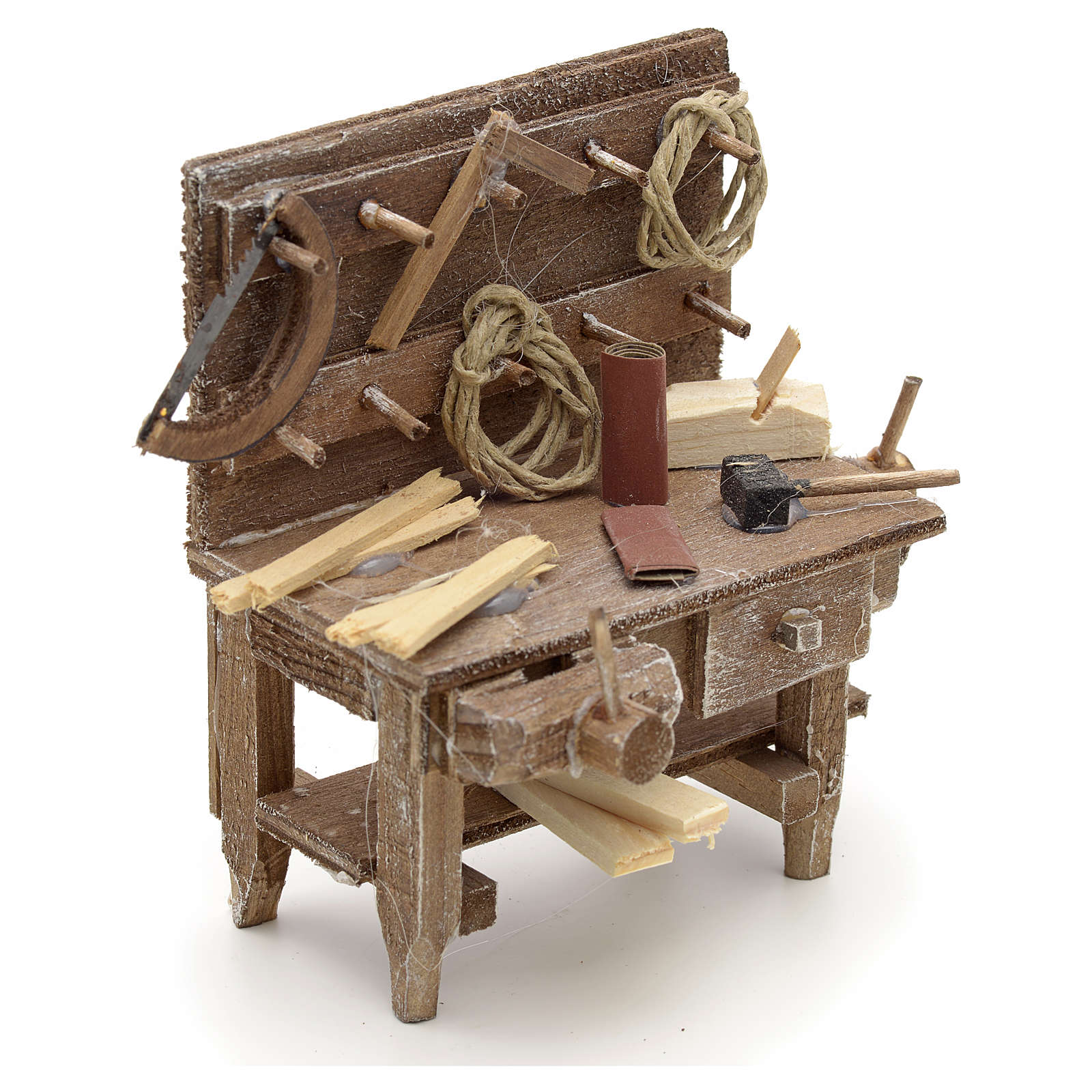 Banc du menuisier en miniature crèche Napolitaine 4