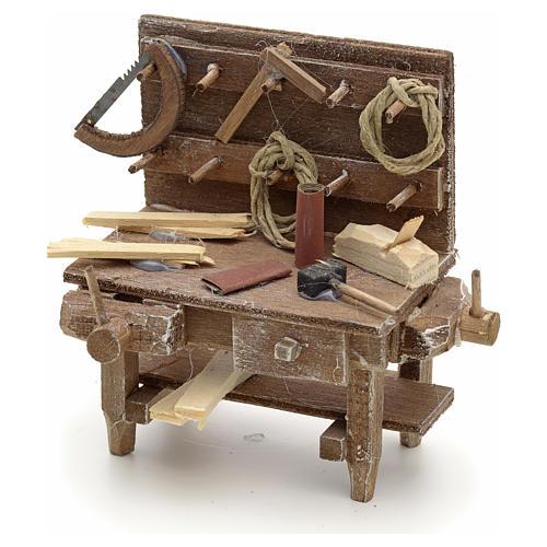 Banc du menuisier en miniature crèche Napolitaine 1