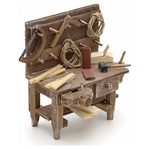 Banc du menuisier en miniature crèche Napolitaine 2