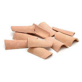 Acessórios de Casa para Presépio: Telhas em resina 4x2 cm
