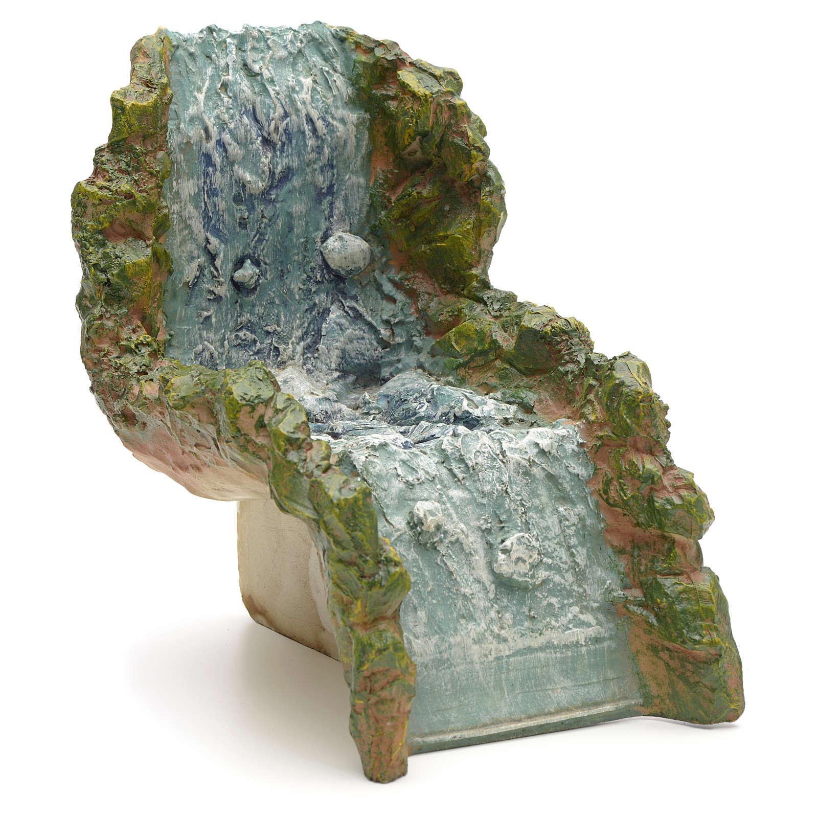 Nativity accessory, resin waterfall, water stream 4