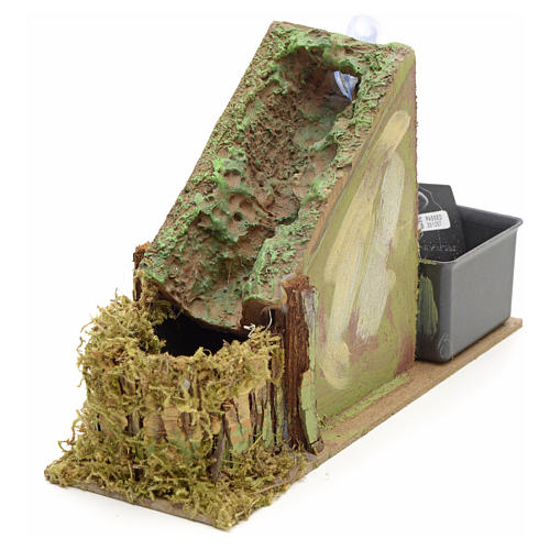 Nativity setting, waterfall with stream in resin 2