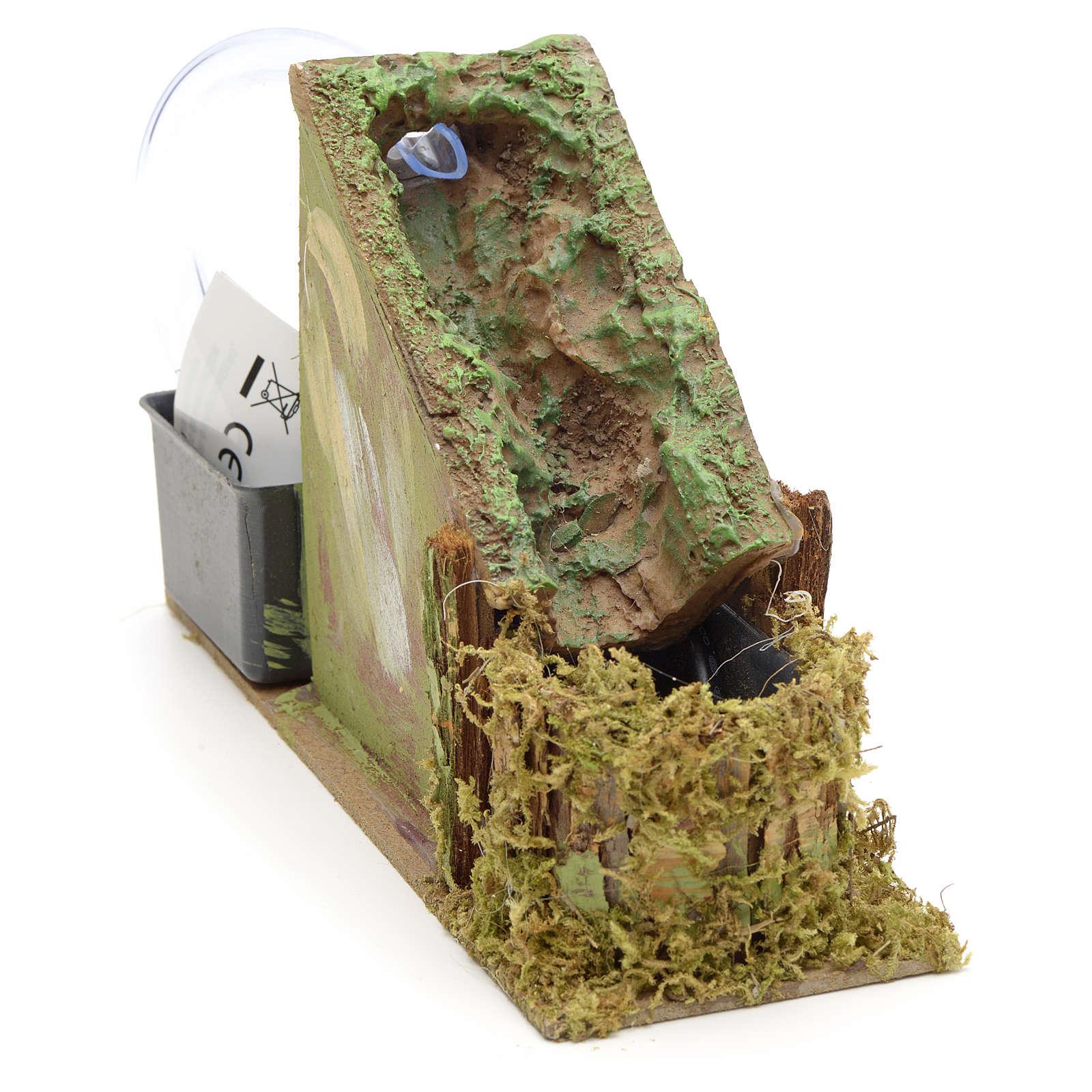 Cascade et ruisseau en miniature, résine 4