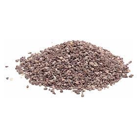 Muschio, licheni, piante, pavimentazioni: Ghiaia fine marrone presepe fai da te 300 gr
