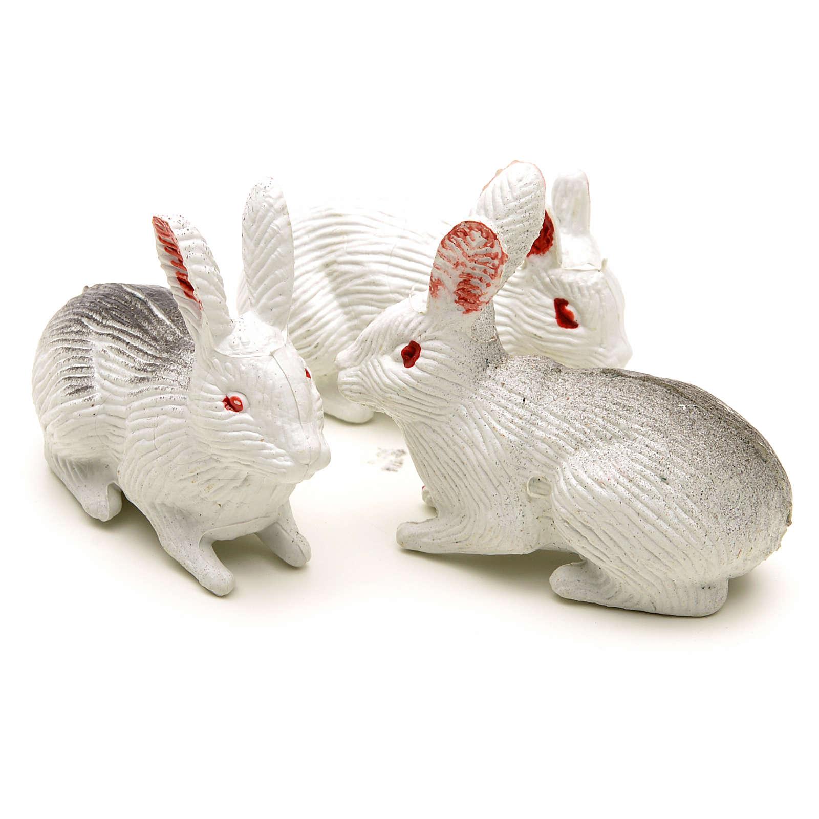 Famiglia di conigli 12 cm 3 pz 3