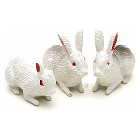 Famiglia di conigli 12 cm 3 pz s2