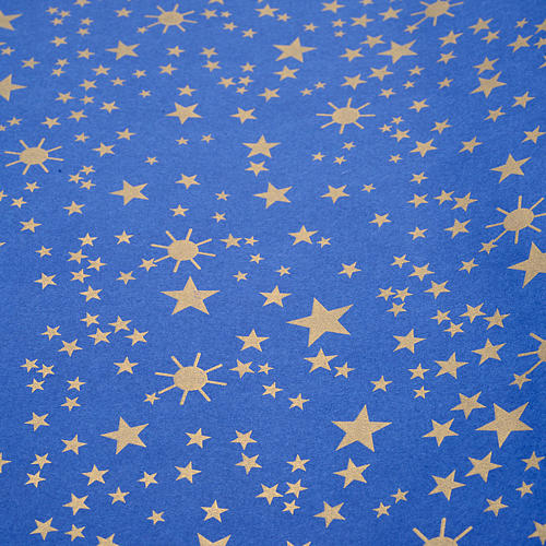 Nativity scene backdrop, starry sky on paper roll 100cm x 5m 1