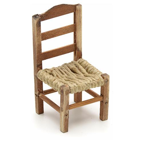 Neapolitan Nativity scene accessory, medium chair 8cm 1