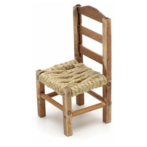 Neapolitan Nativity scene accessory, medium chair 8cm 2