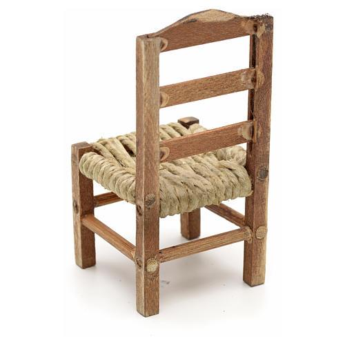 Neapolitan Nativity scene accessory, medium chair 8cm 3