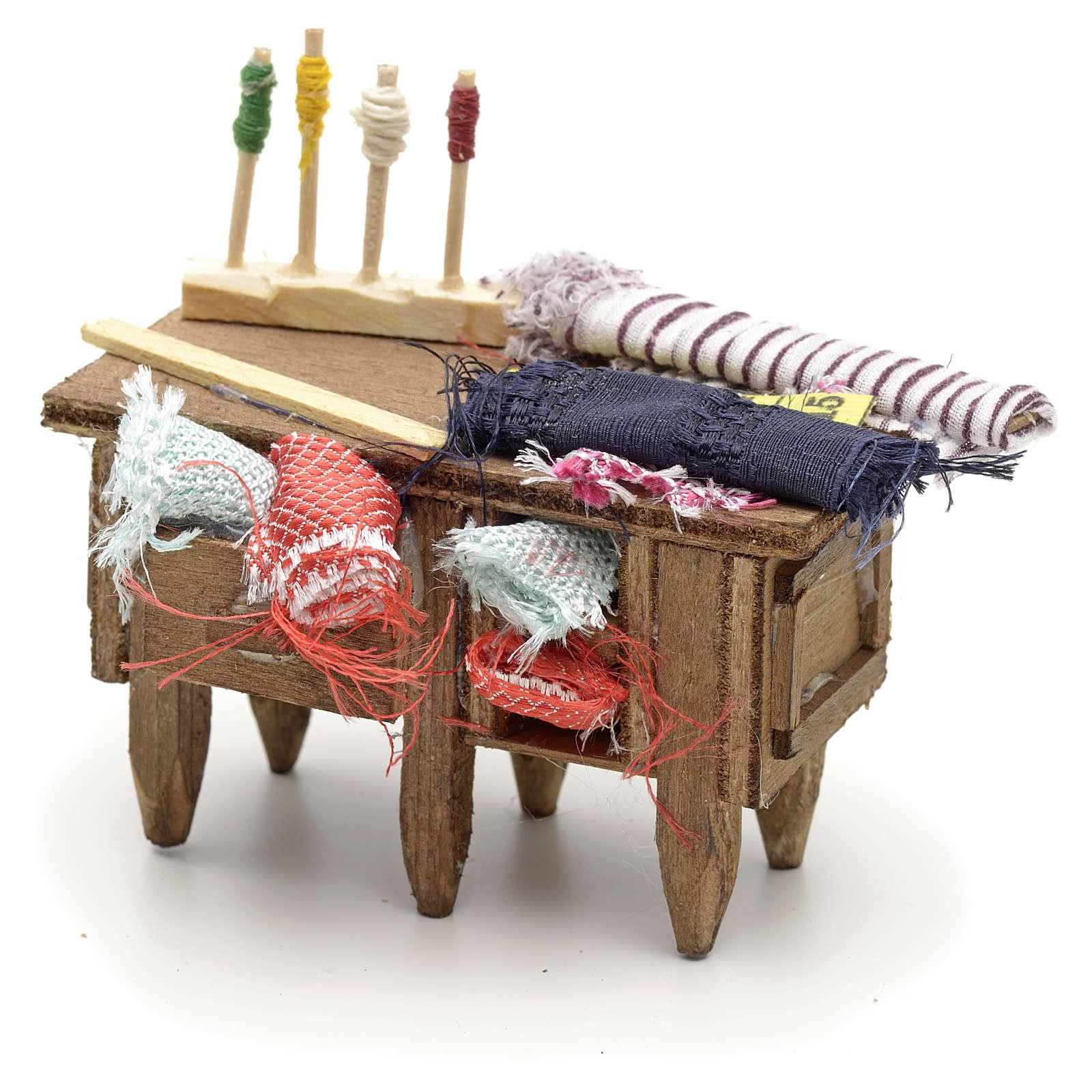 Table du tailleur, accessoire crèche Napolitaine 4