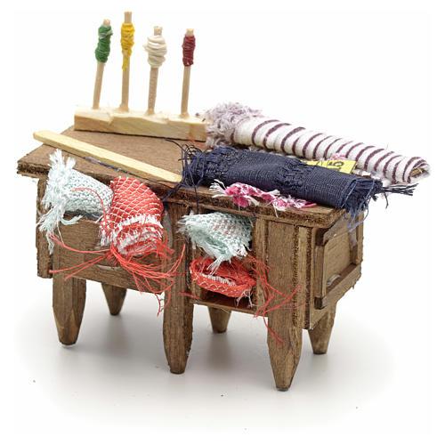 Table du tailleur, accessoire crèche Napolitaine 3
