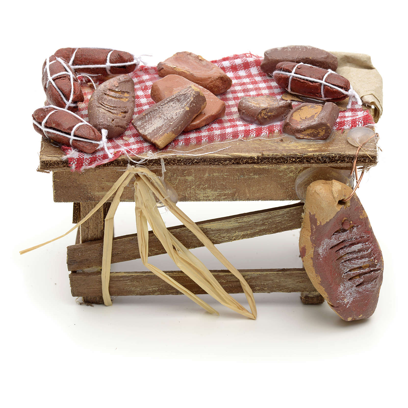 Neapolitan Nativity scene accessory, meat table 4