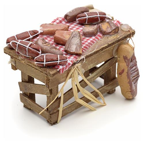 Neapolitan Nativity scene accessory, meat table 2