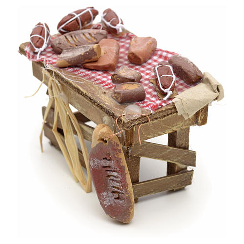 Neapolitan Nativity scene accessory, meat table 3
