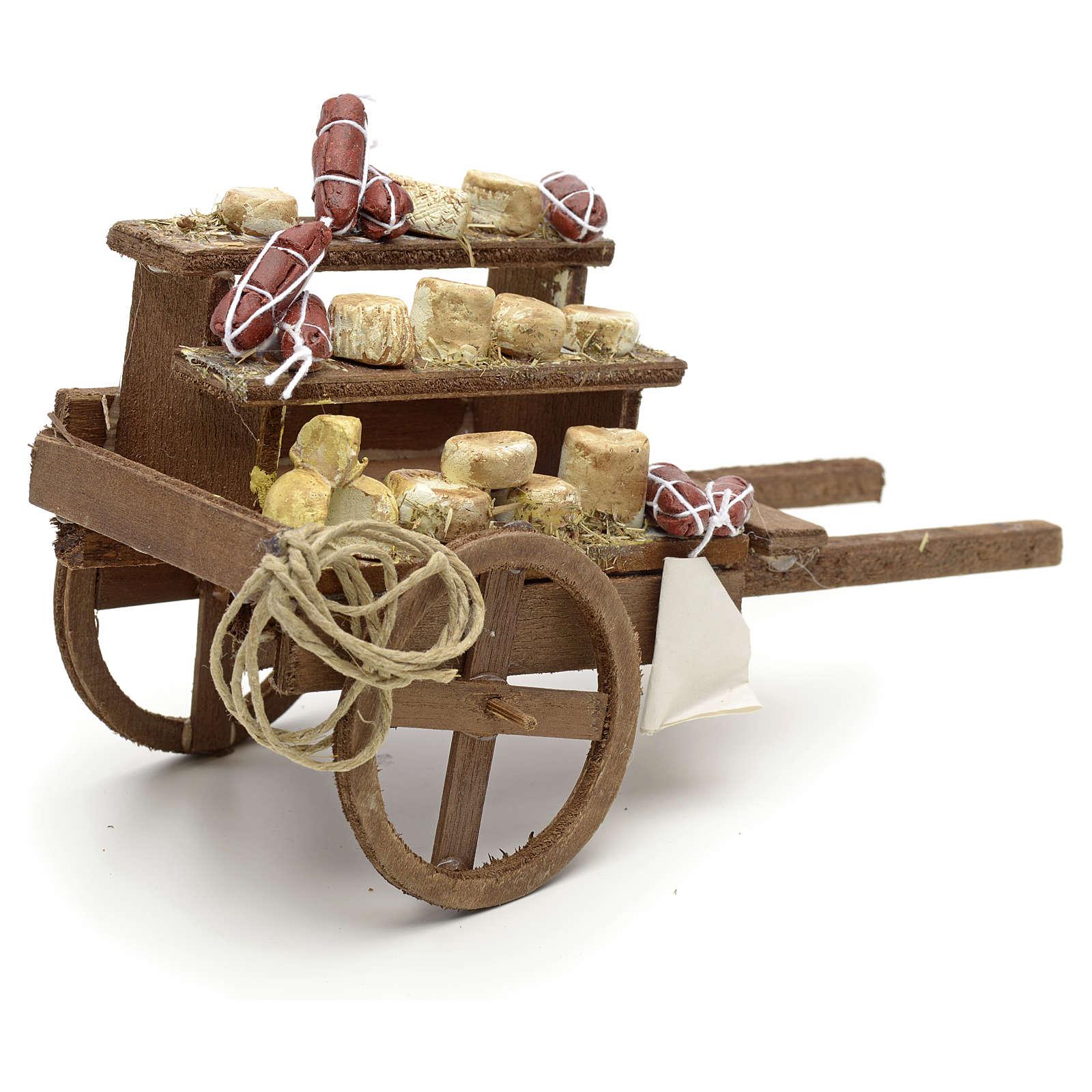 Neapolitan Nativity scene accessory, meat cart 4