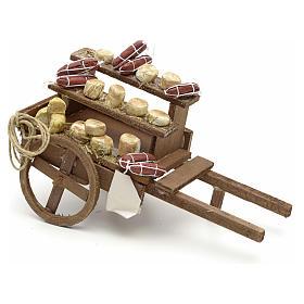 Neapolitan Nativity scene accessory, meat cart s1