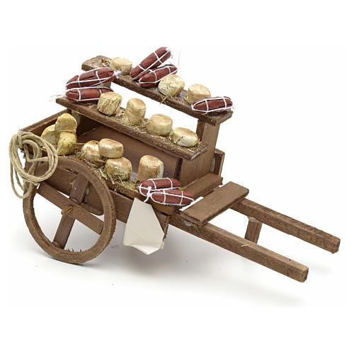 Neapolitan Nativity scene accessory, meat cart 1