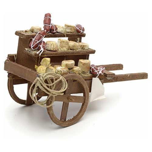 Neapolitan Nativity scene accessory, meat cart 2