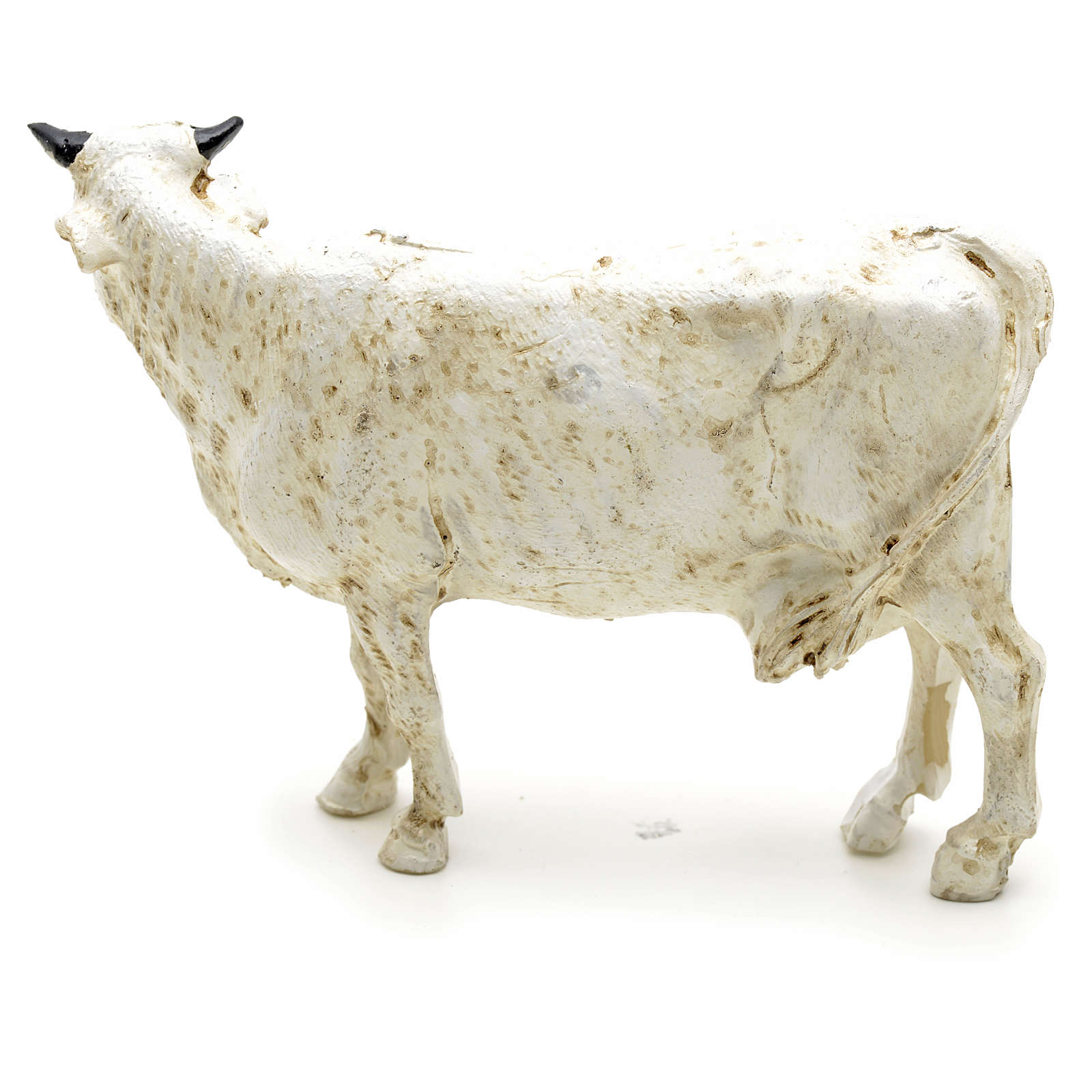 Mucca resina presepe 12 cm 3