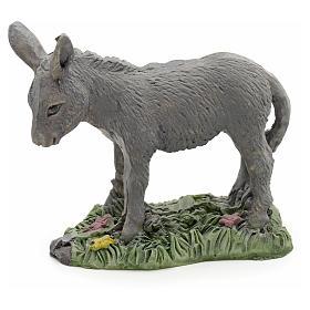 Nativity figurine, donkey in resin 8cm s1