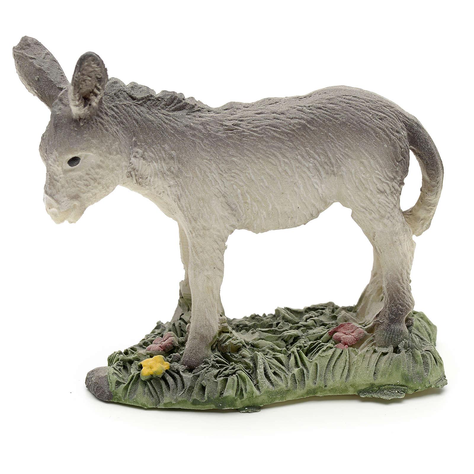 Nativity figurine in resin, donkey 8cm 3