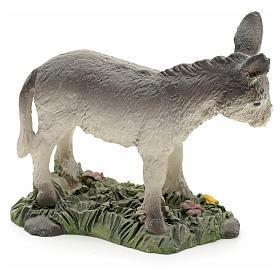 Nativity figurine in resin, donkey 8cm s2