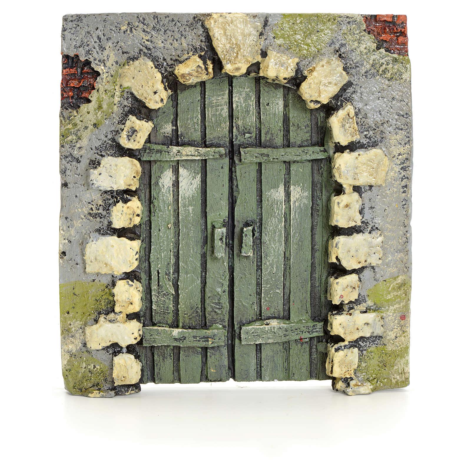 Portón con piedras pesebre 11x10cm 4