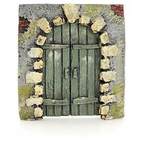 Portón con piedras pesebre 11x10cm s1