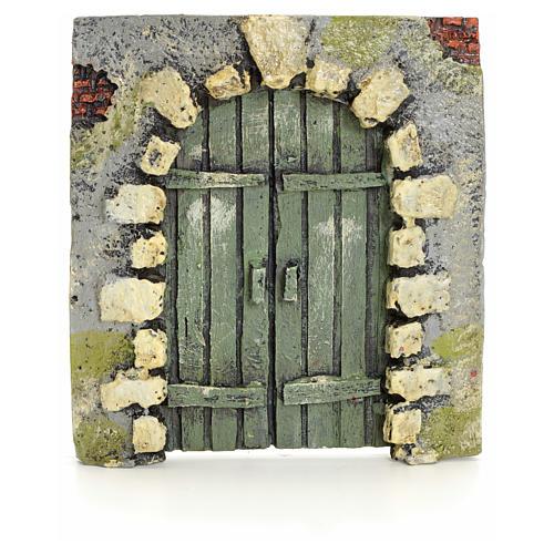 Portón con piedras pesebre 11x10cm 1