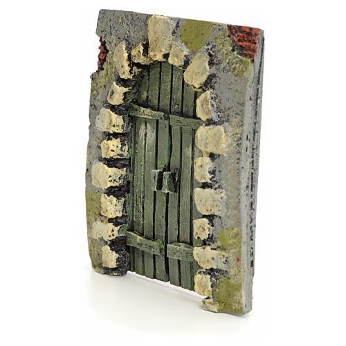 Portón con piedras pesebre 11x10cm 2