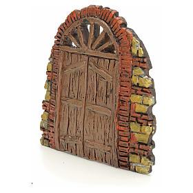 Nativity accessory, door with little bricks 10x11cm s2