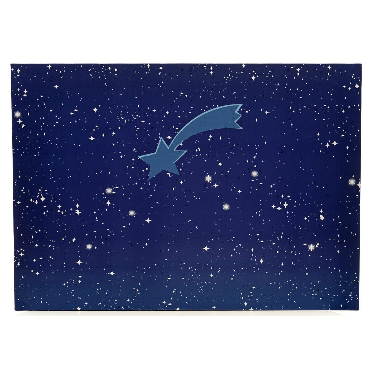Cielo luminoso pesebre con estrellas y cometa 50x70 4