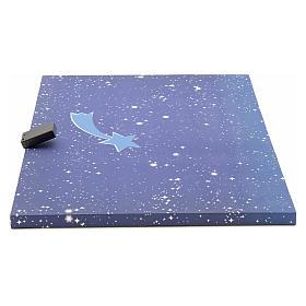 Cielo luminoso pesebre con estrellas y cometa 50x70 s2