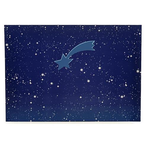Cielo luminoso pesebre con estrellas y cometa 50x70 1